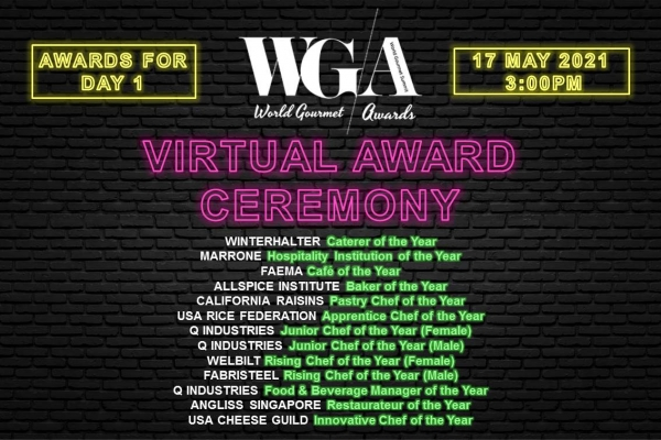 World Gourmet Awards (Virtual) Ceremony - Day 1