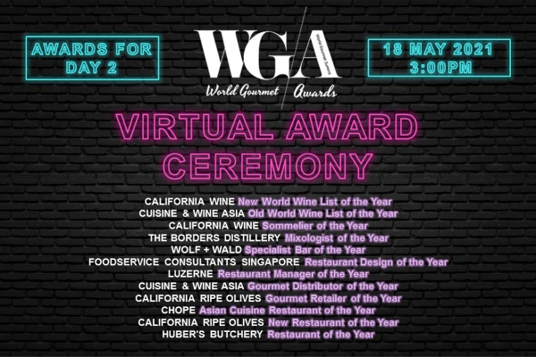 World Gourmet Awards (Virtual) Ceremony - Day 2